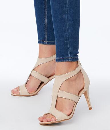 Heeled sandals nude.