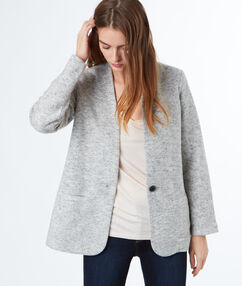 Suit jacket light taupe.