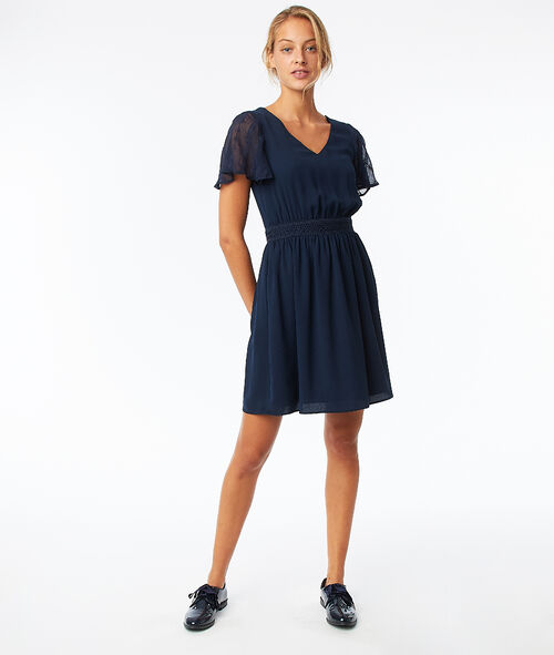 Frill sleeves dress