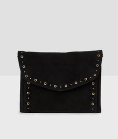 Eyelet detail bag black.