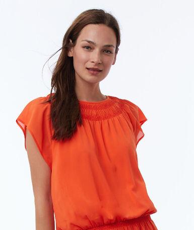 Flared dress tangerine.