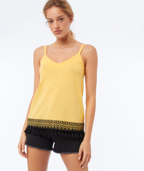 Camisole with embroidered details