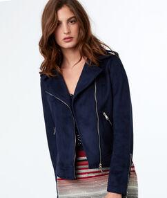 Biker jacket navy blue.