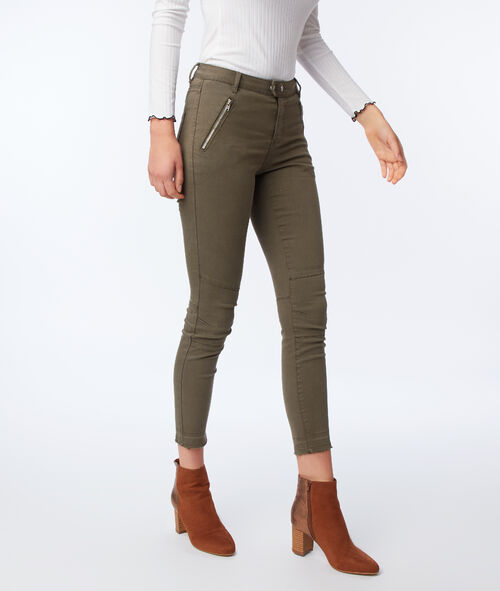 Slim-fit trousers with zips