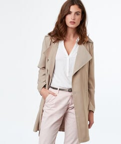 3/4-length trench coat beige.
