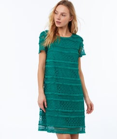 Lace dress emerald green.