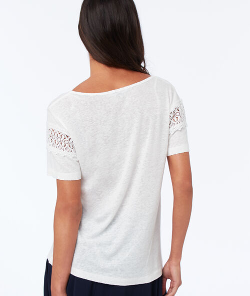 T-shirt with guipures