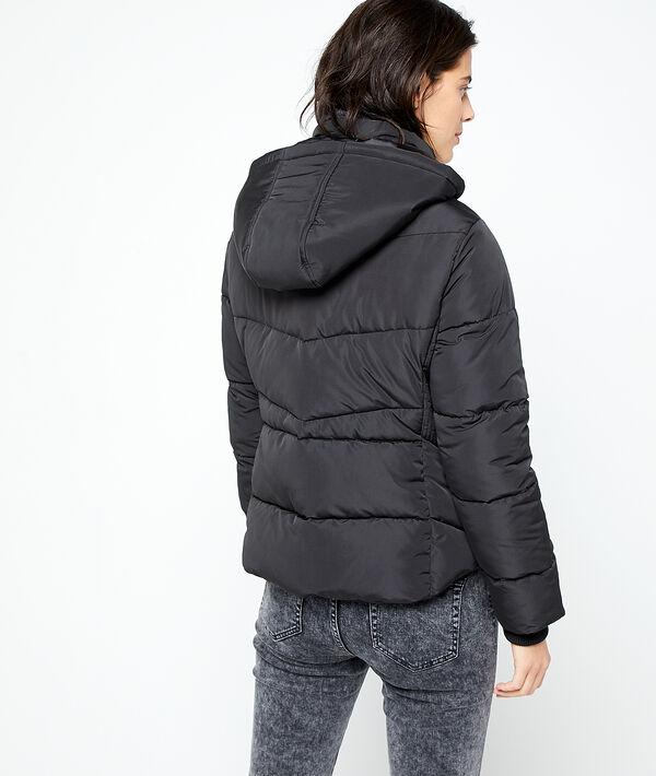 Faux fur collar puffer jacket