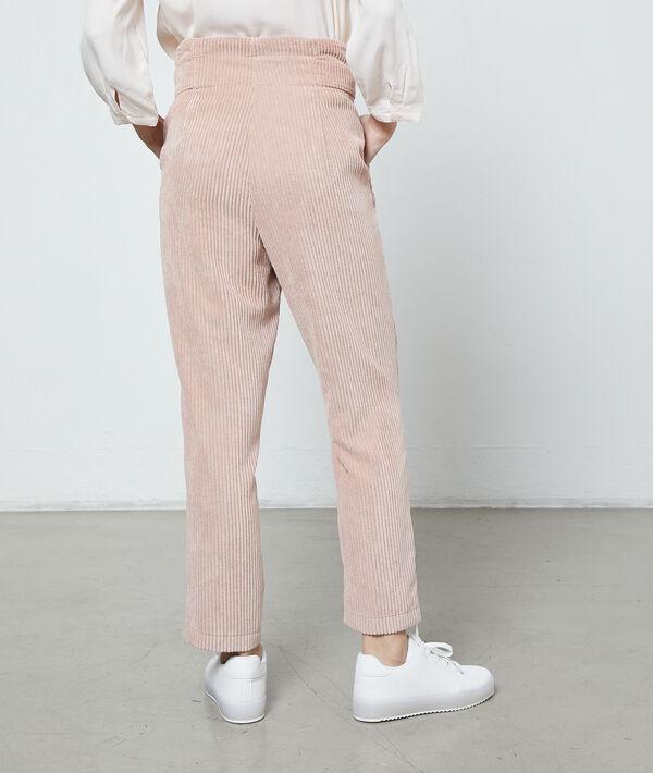 Pantalon carotte en velours côtelé