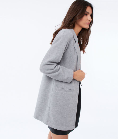 Long jacket with a tailored collar