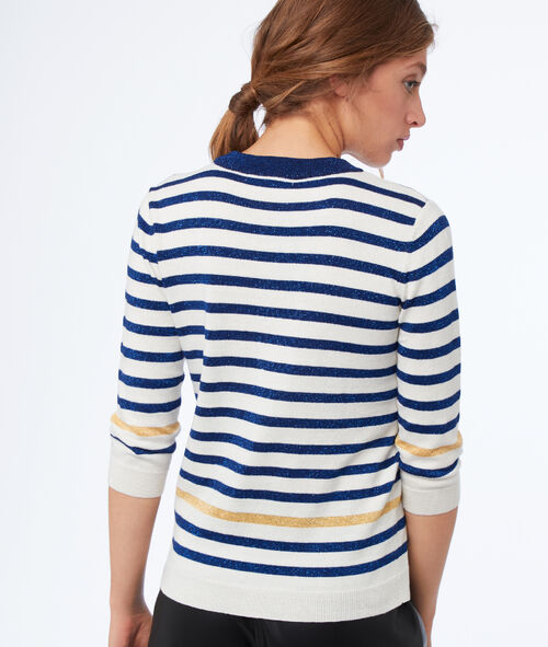 Sweater with sparkling stripes