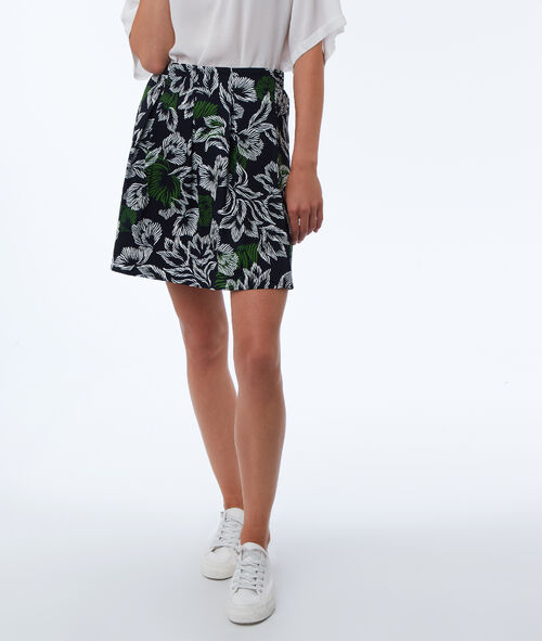 Skater skirt with floral print
