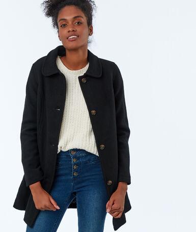 Plain coat black.