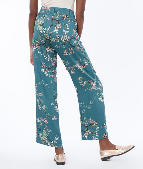 Printed wide pants