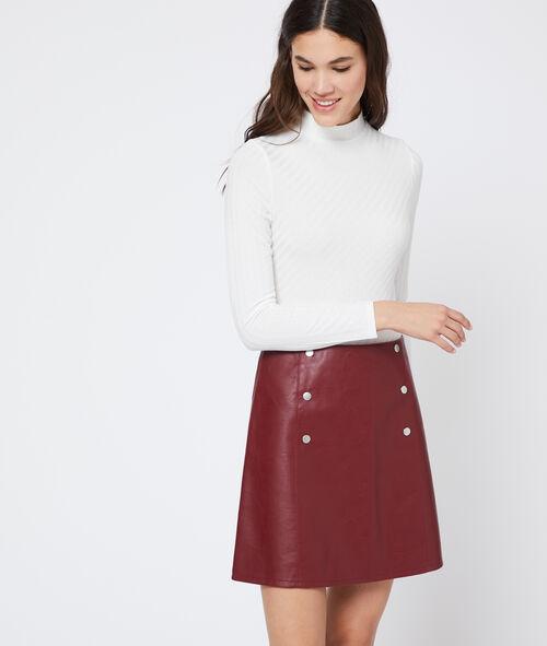 Leather look studded skirt
