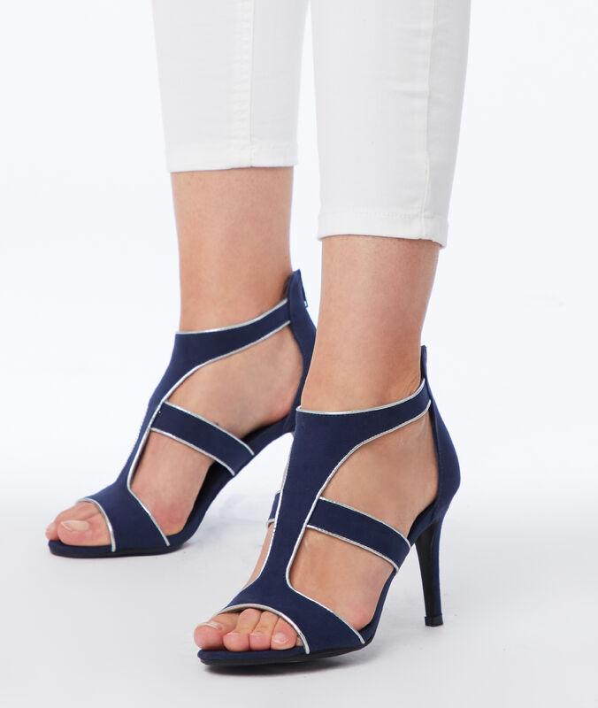 Heeled sandals navy blue.