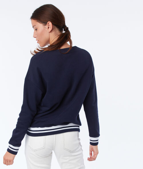 Lace up neck sweater