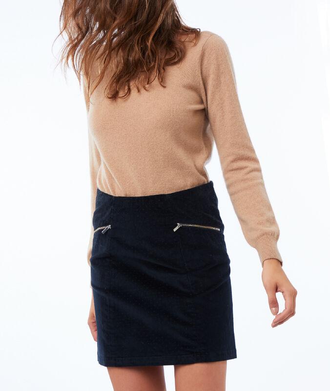 Velvet skirt navy blue.