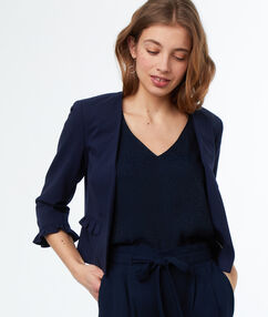 Jacket navy blue.