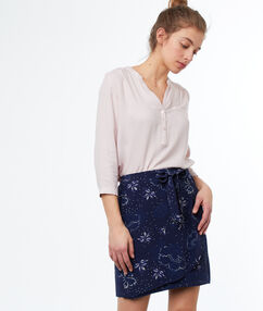 Floral print skirt navy blue.