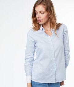 Bicolor shirt blue.