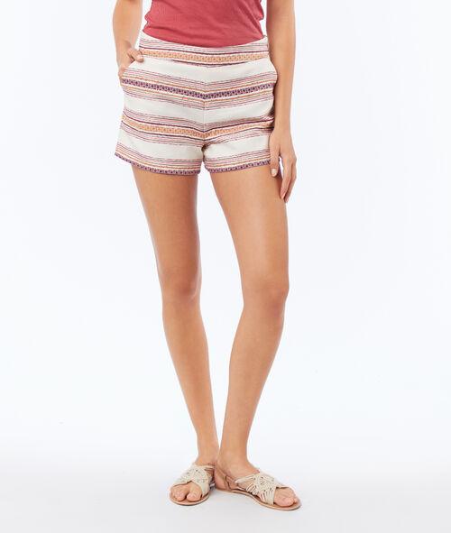 Striped Jacquard shorts