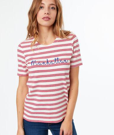 """manhattan"" printed t-shirt red."