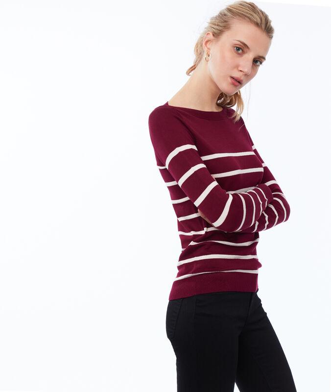 Striped sweater garnet.