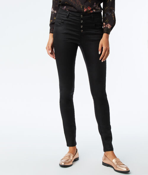 4 button coated jean