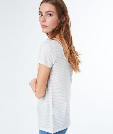 Striped t-shirt ecru.