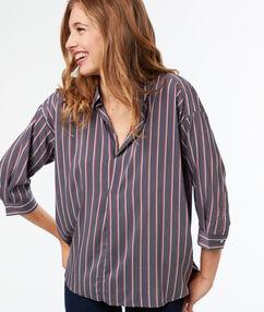 Striped blouse gray.