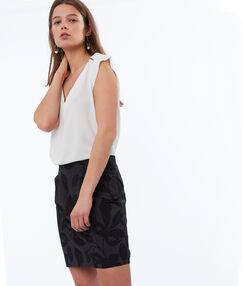 Printed skirt black.