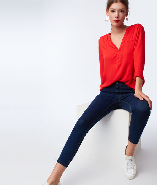 3/4 sleeves plain blouse