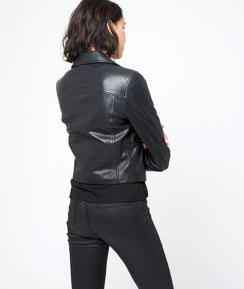 100% leather biker jacket