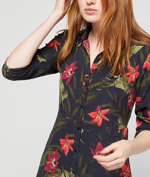 Robe chemise à imprimé floral