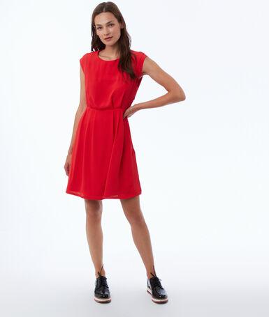 Flared dress poppy.