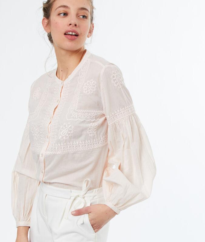 Puff sleeve blouse nude.