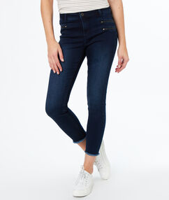 Slim jeans faded dark blue.