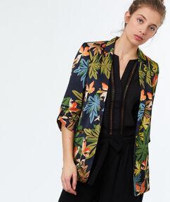Printed jacket khaki.