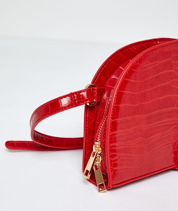Messenger bag in croc effect