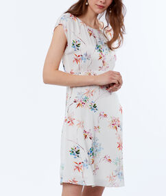 Printed dress off-white.