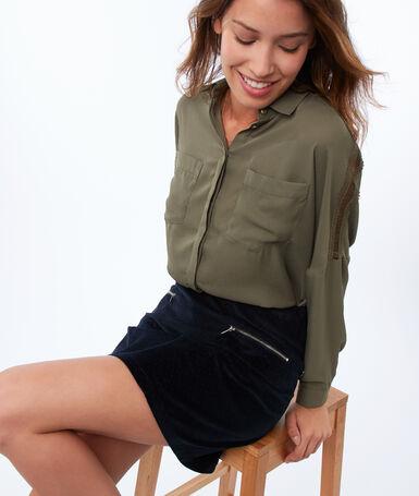 Plain blouse khaki.