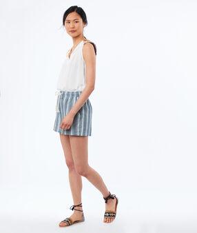Striped shorts medium denim.