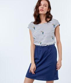 Striped dress navy blue.