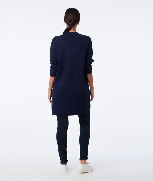 Veste longue col tailleur
