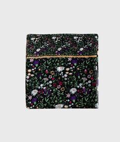 Floral print scarf black.