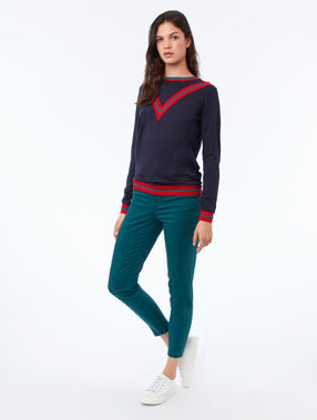 Viscose sweater navy.