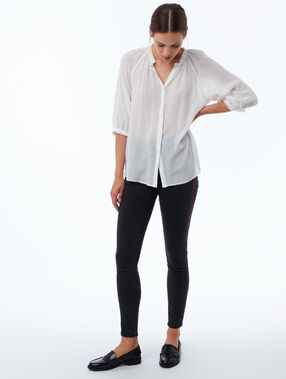 Tunisian collar blouse ecru.