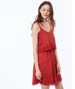 Cami dress tomato red.