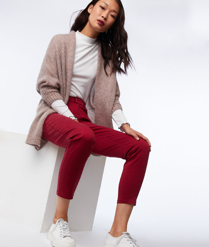 Slim-fit trousers carmine.